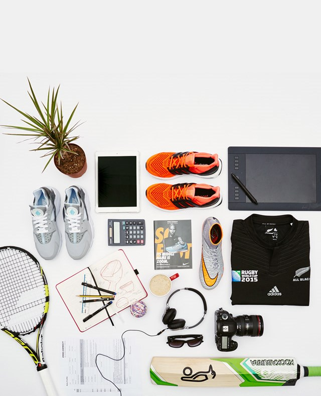 An assortment of Sports and Office items